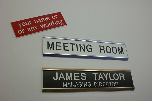 PLASTIC DOOR SIGN IN SIGN HOLDER & Lasercuts Ltd: Indoor Signage